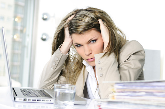 frustrated woman business woman