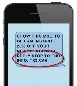 CASL compliant text message