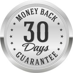 30-day money-back guarantee medallion